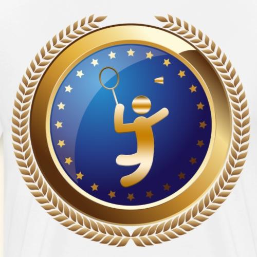 Badminton Sports Emblem Award - Men's Premium T-Shirt