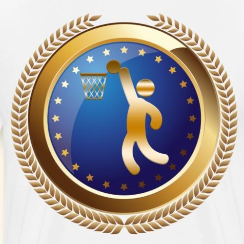 Basketball Sports Award or Emblem - Men's Premium T-Shirt