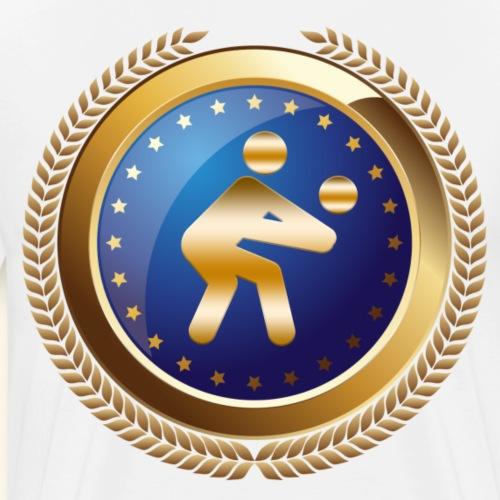 Volleyball Sports Emblem Award - Men's Premium T-Shirt