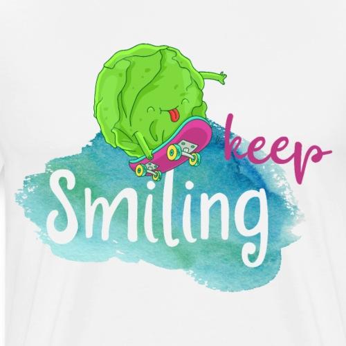 Keep Smiling: naughty vegan skater figure vegetable