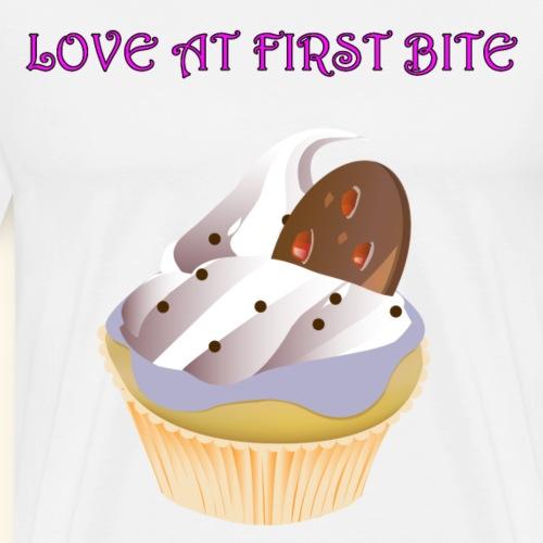 Cup Cake Love at first Bite - Men's Premium T-Shirt