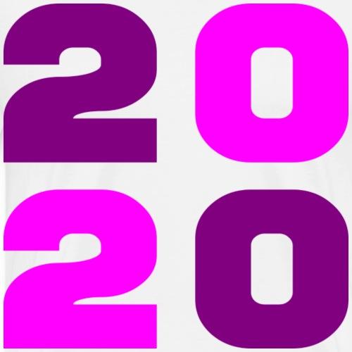 2020 - rose violet - Men's Premium T-Shirt