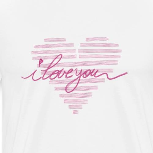 In kalk letters - T-shirt Premium Homme