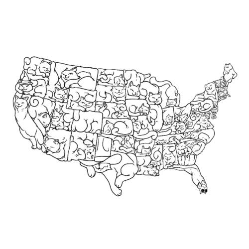 UNITED CATS OF AMERICA - Koszulka męska Premium