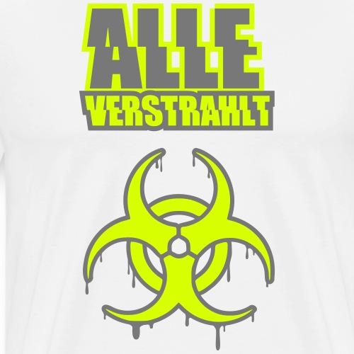 Alle verstrahlt Biohazard Symbol Rave Techno Fun - Männer Premium T-Shirt