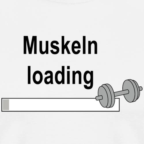 Muskeln loading - Männer Premium T-Shirt