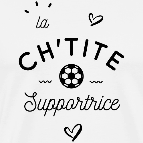 La ch'tite supportrice - T-shirt Premium Homme