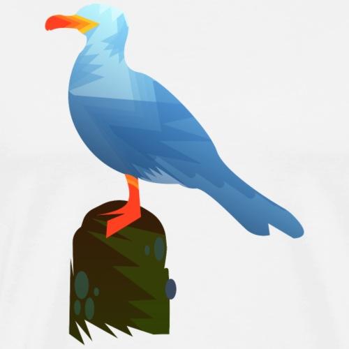 Möwe Vogel Design - Männer Premium T-Shirt