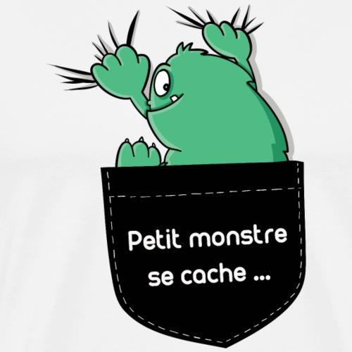 petit monstre se cache - T-shirt Premium Homme