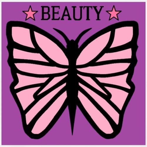 Fjäril beauty med färgerna rosa svart lila - Premium-T-shirt herr