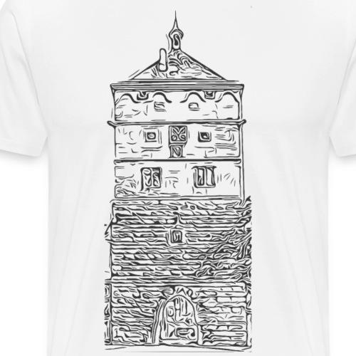 Schwarzes Tor Rottweil Grafik schwarz - Männer Premium T-Shirt