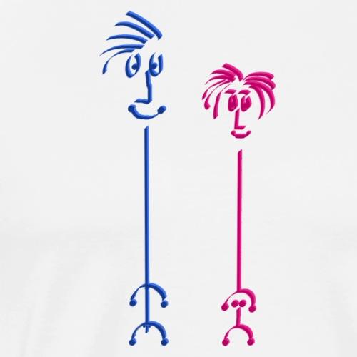 Graf Itti und Gräfin Itti - Männer Premium T-Shirt