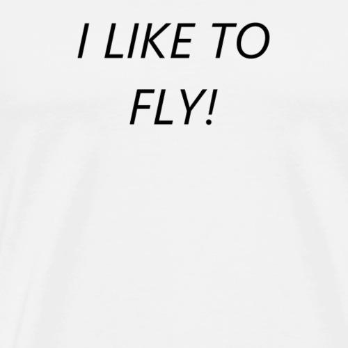 Ich liebe es zu fliegen - Männer Premium T-Shirt