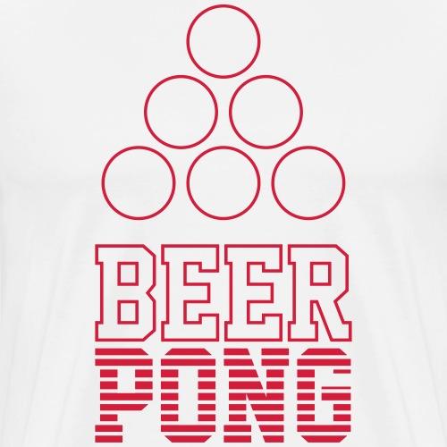 Beer Pong Logo VII - Männer Premium T-Shirt