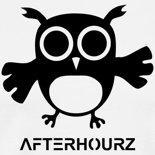 Afterhour Eule große Pupillen Iris Augen Techno - Männer Premium T-Shirt