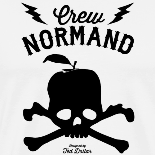 Crew Normand Black Skull - T-shirt Premium Homme