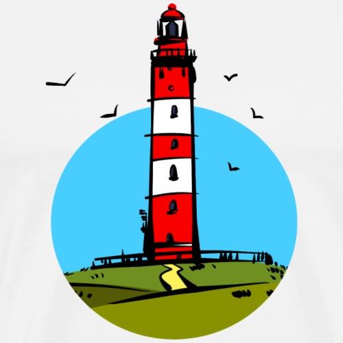 Leuchtturm Amrum Design - Männer Premium T-Shirt