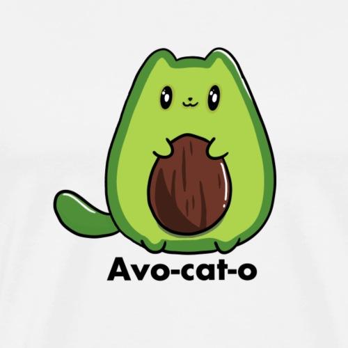 Avo - cat - o chat avocado tous les motifs - T-shirt Premium Homme