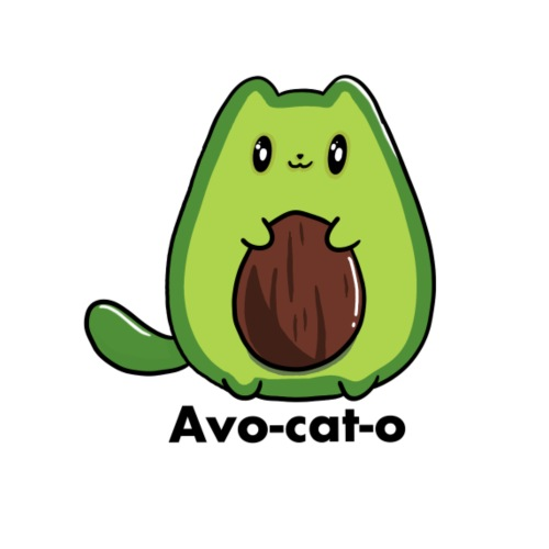 Gatto avocado - Avo - cat - o tutti i motivi - Maglietta Premium da uomo