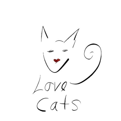 Cats love - Men's Premium T-Shirt