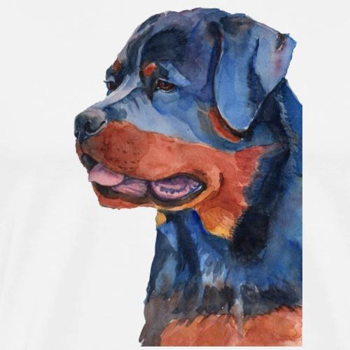 rottweiler - F - Herre premium T-shirt
