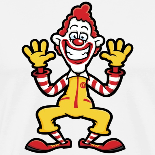 Ronald McDonald Cartoon Character - Men's Premium T-Shirt