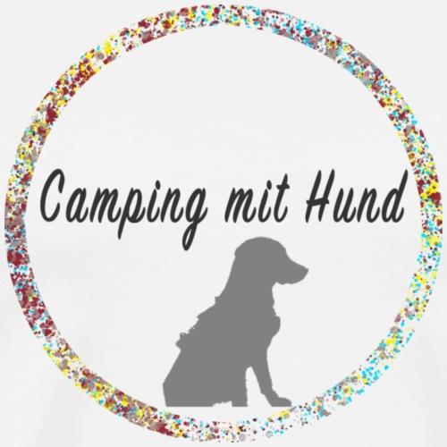 Camping mit Hund - Männer Premium T-Shirt