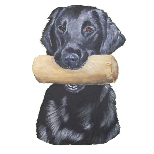 flatcoated retriever Dumbbell - Herre premium T-shirt