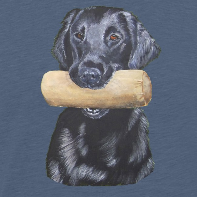 flatcoated retriever Dumbbell