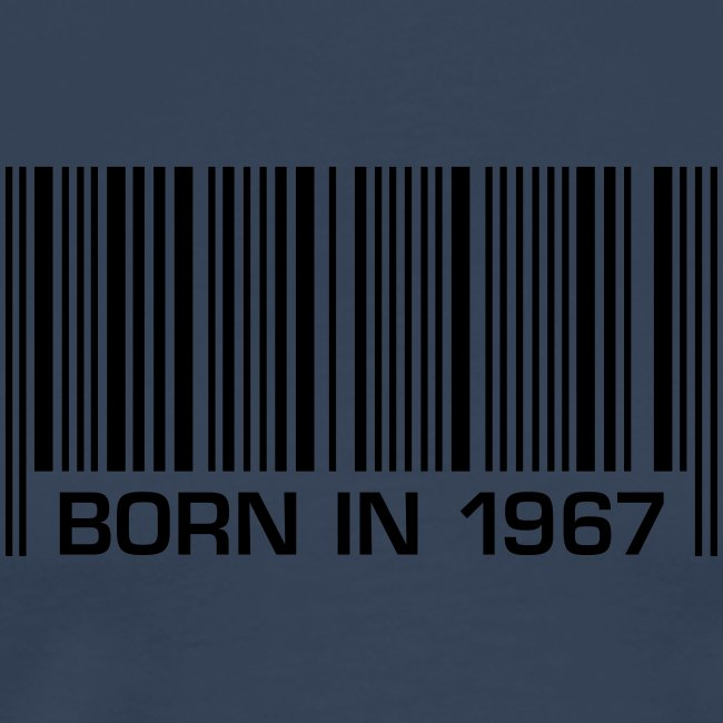 born in 1967 50th birthday 50. Geburtstag barcode