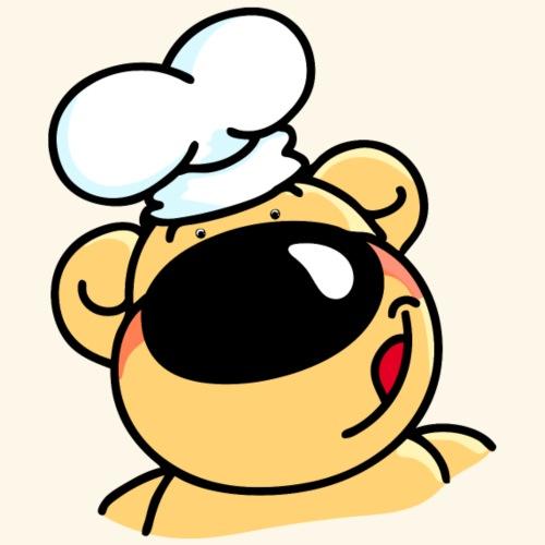 Kochbär mit Kochmütze - Männer Premium T-Shirt
