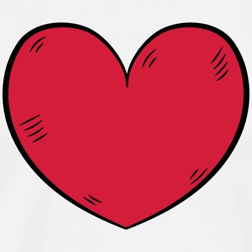coeur amour - T-shirt Premium Homme