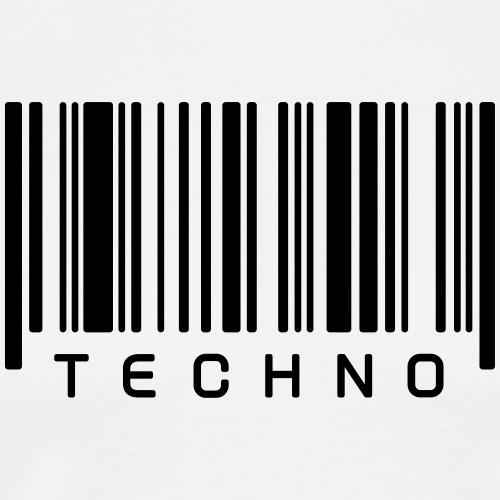 Techno Barcode Strichcode Scan Code Acid Mnml Rave - Männer Premium T-Shirt