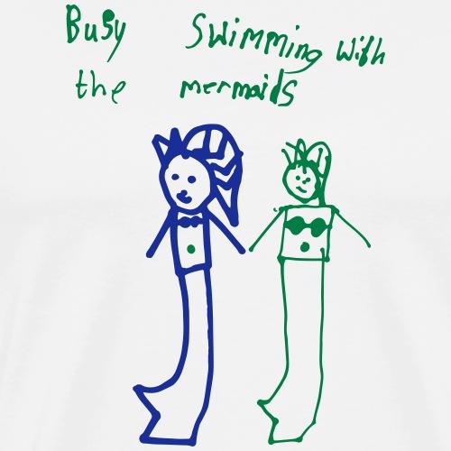 Swimming with Mermaids - Men's Premium T-Shirt