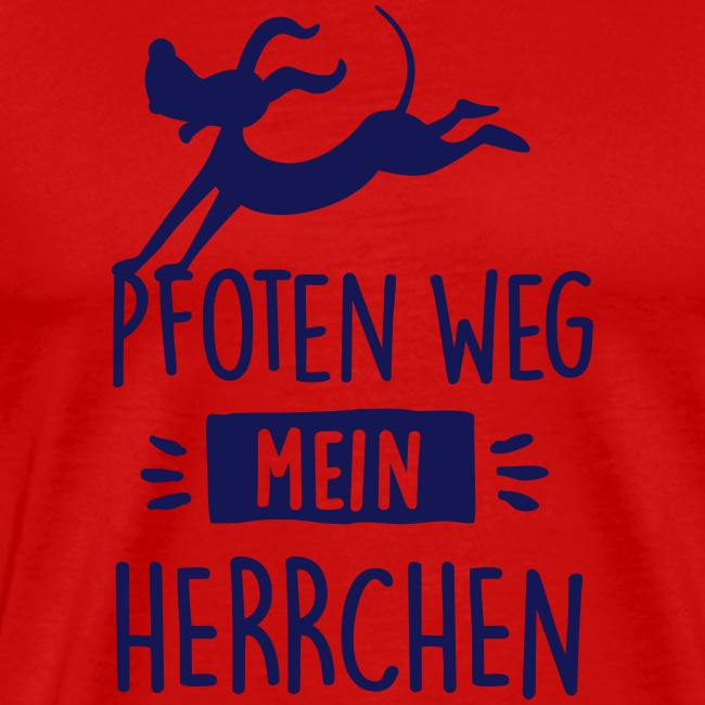 Vorschau: pfoten weg herrchen - Männer Premium T-Shirt