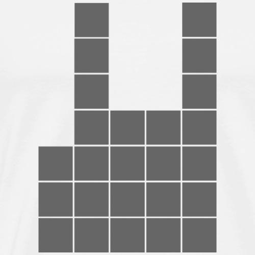 Metal Pixel - Männer Premium T-Shirt