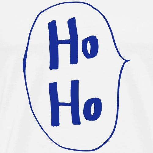 Ho Ho bulles de père Noël cadeau rire - T-shirt Premium Homme