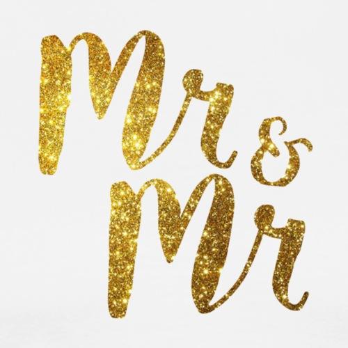 Mr & Mr . Stag / Wedding Day - Men's Premium T-Shirt
