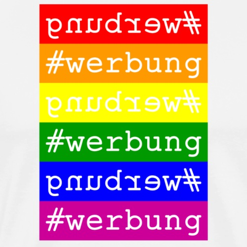 #werbung - Regenbogen - Männer Premium T-Shirt