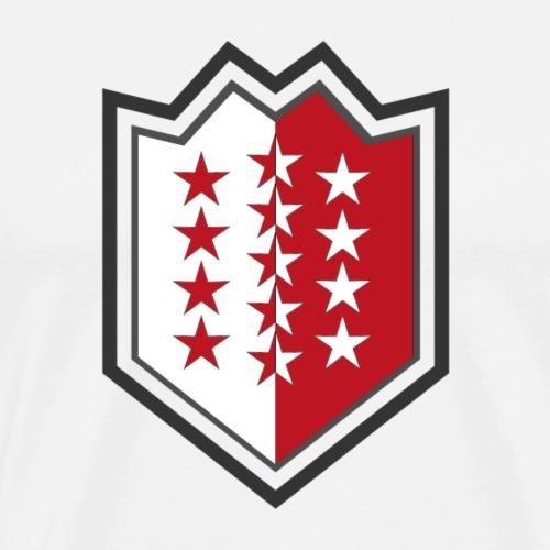 Bouclier moderne du Valais - Männer Premium T-Shirt