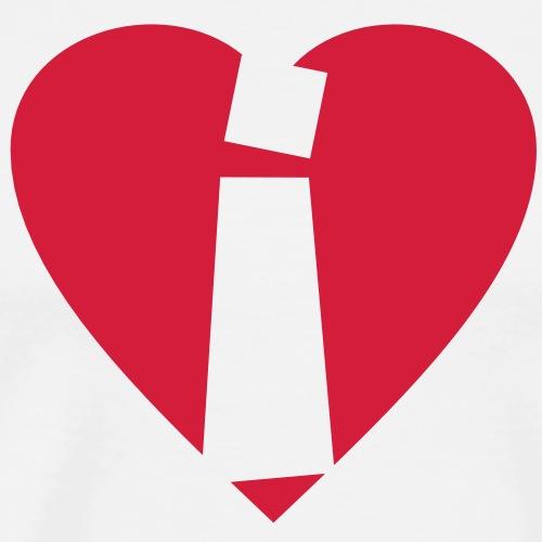 I love i - Herz i - Buchstabe i - Männer Premium T-Shirt