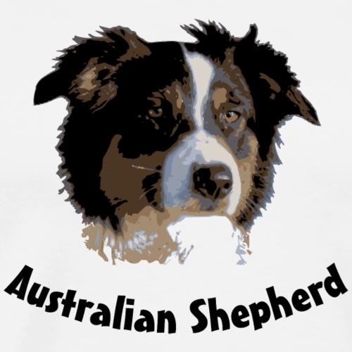 australian shepherd aussie hund hüte hüten border - Männer Premium T-Shirt