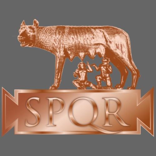 lupa romana, Romolo e Remo, SPQR, bronzo - Maglietta Premium da uomo