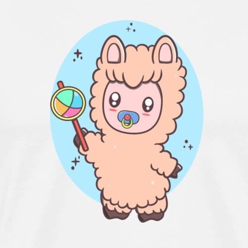 Baby Llama - Herre premium T-shirt