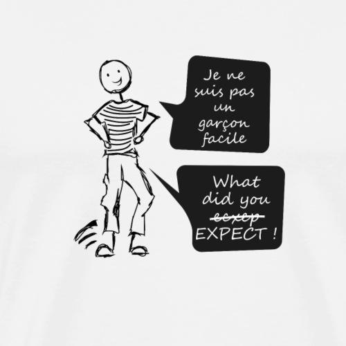pas un garçon facile - T-shirt Premium Homme