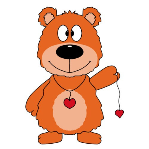 Niedlicher Teddybär mit Herzchen - Männer Premium T-Shirt