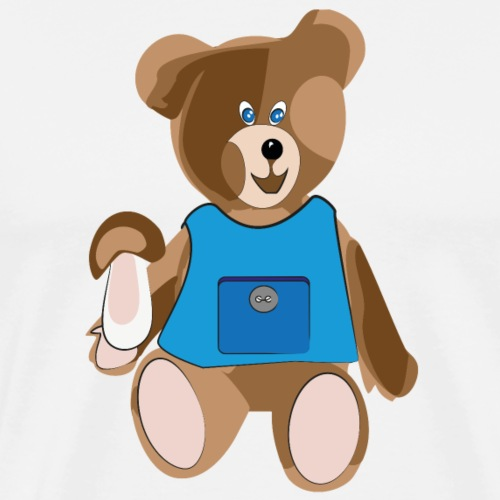 Teddy mit Schürze - Männer Premium T-Shirt