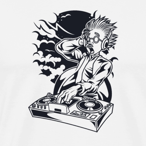 Dj scientifique fou - T-shirt Premium Homme