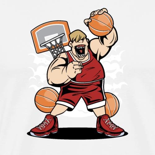 Gros joueur de basket-ball - T-shirt Premium Homme