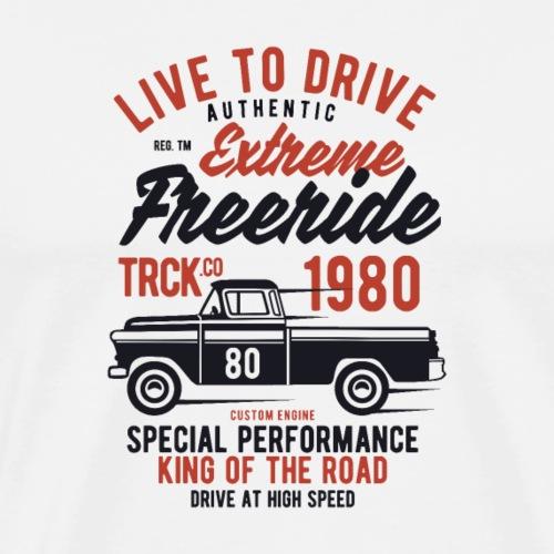 Extremer Freeride Truck - Männer Premium T-Shirt